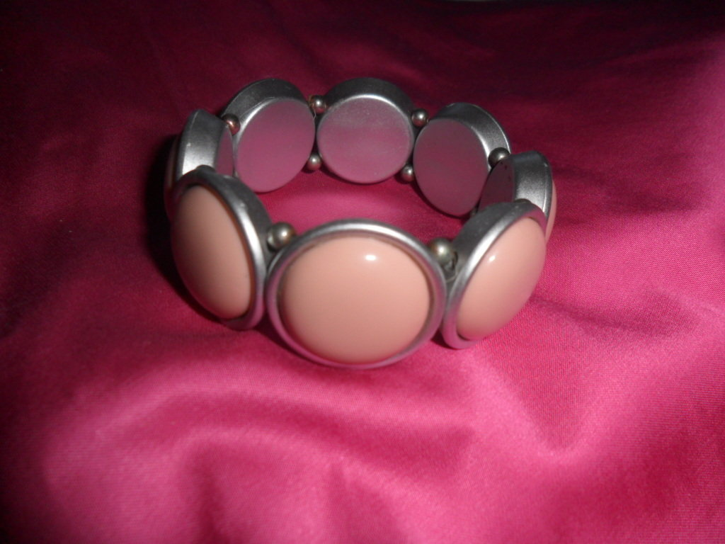 braccialetto rosa&grigio