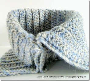 Schema per Scaldacollo Double-face ad uncinetto - Pattern in PDF Crocheted Reversible Neckwarmer (men-woman-children sizes) it-en language