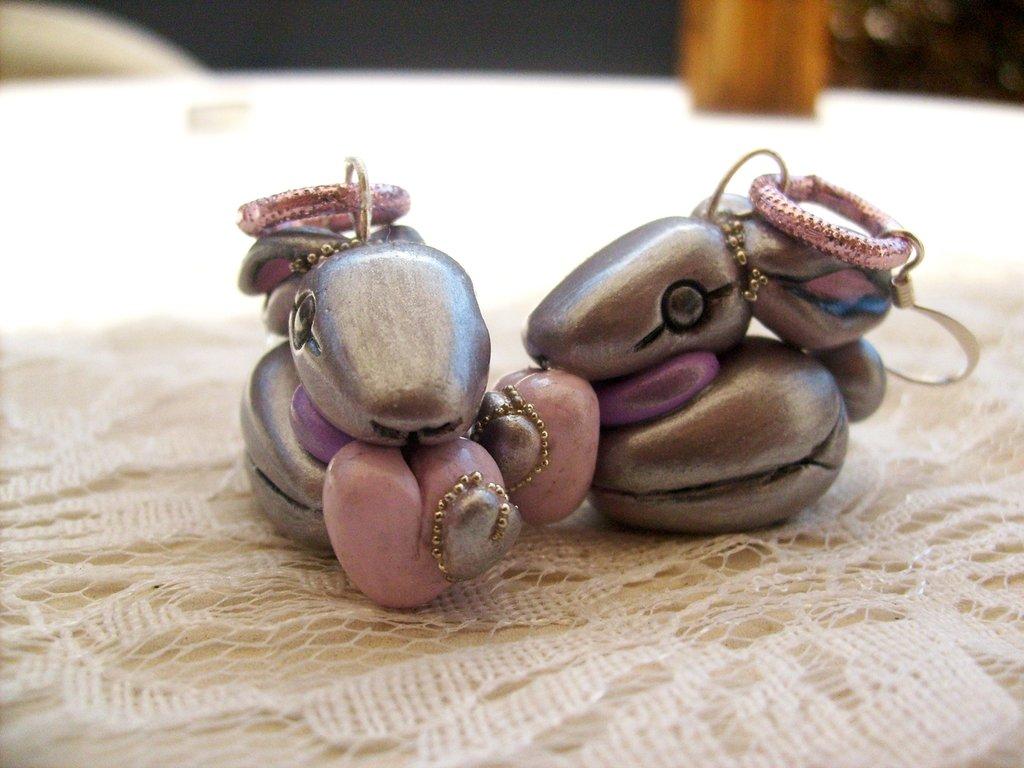 Orecchini Coniglietti argentati