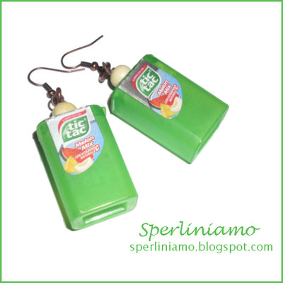 Tic Tac Earrings Melon Mix