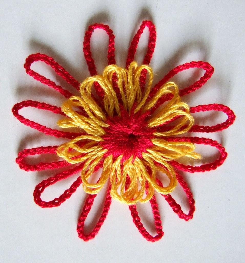 fiore uncinetto,applicazione