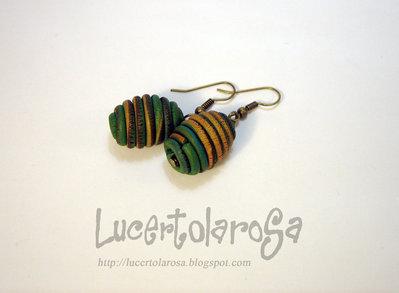 "Orecchini ""Favo""/ Honeycomb earrings"