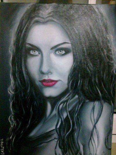 Dipinto Quadro Amy Lee Evanescence Ritratto