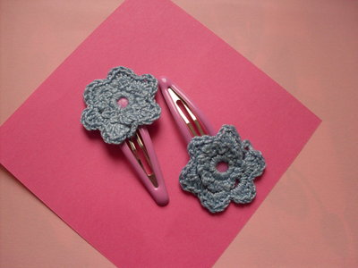 Mollettine clip fiore