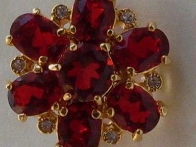 ART.110 - VINTAGE USA- spilla mignon rosso rubino-