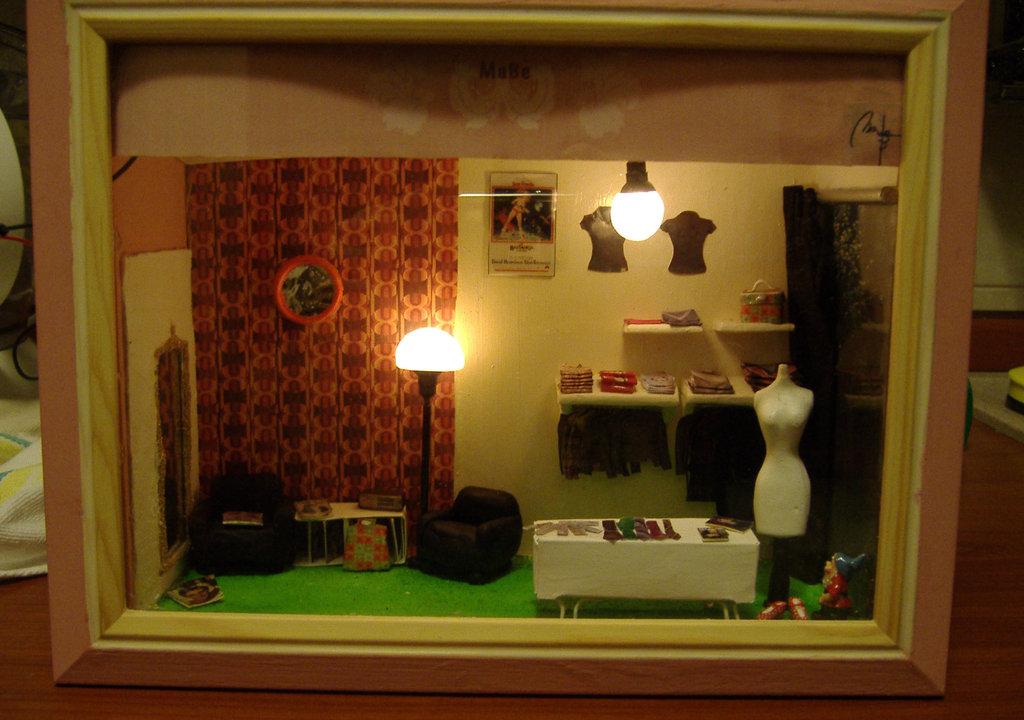 Room Box Riproduzione di ambienti e negozi come questo su richiesta