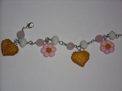 bracciale biscotto/fiori