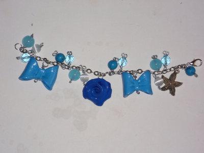 bracciale celeste/blu stella marina
