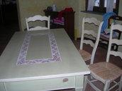 tavolo con inserto in fimo