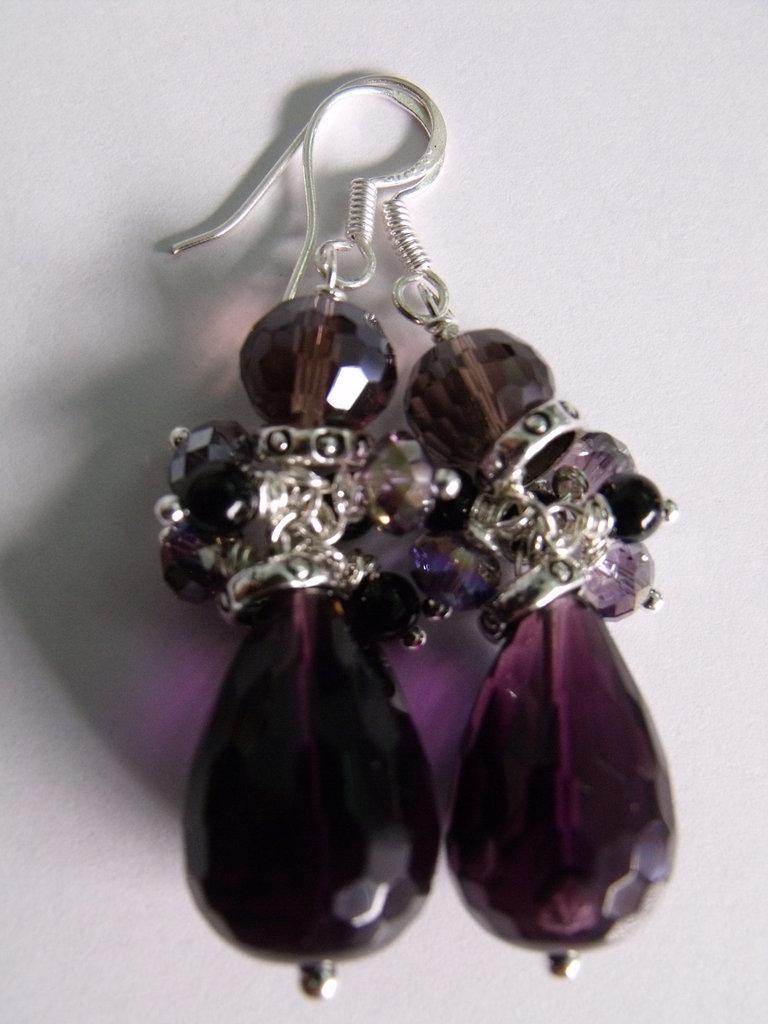 Purple Rain - orecchini arg 925