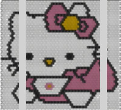 Schema Brick Stitch Baby Kitty