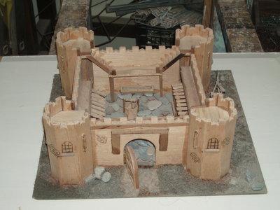 castello medioevale in legno