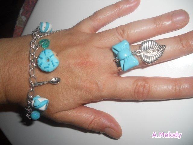 Bracciale e Anello Baby Blue Sweet