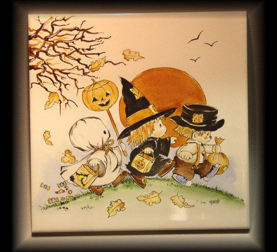 Sottopentola Halloween dipinto a mano