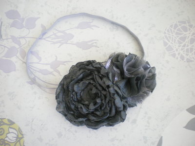 Grey Flower headband