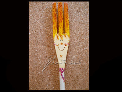 forchetta in legno faccetta