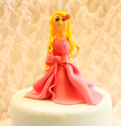party girl cake topper