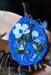 ciondolo blu mare