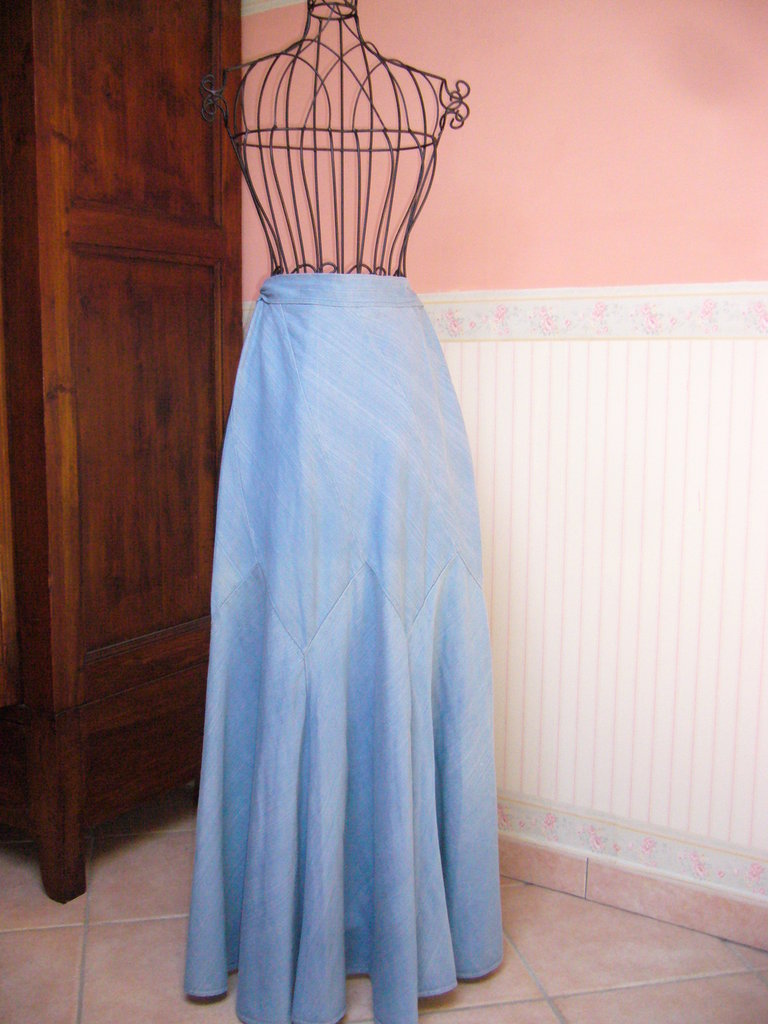 gonna jeans anni 70