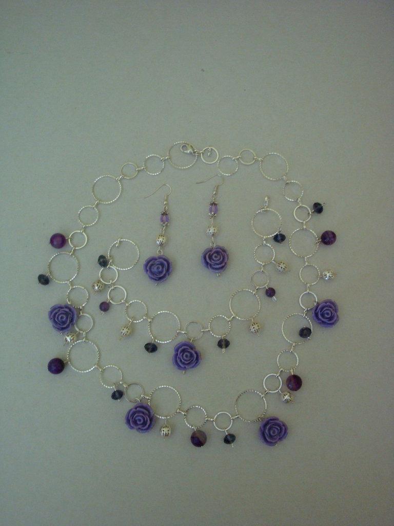 purple parure