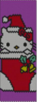 bracciale tecnica peyote hello kitty natalizio