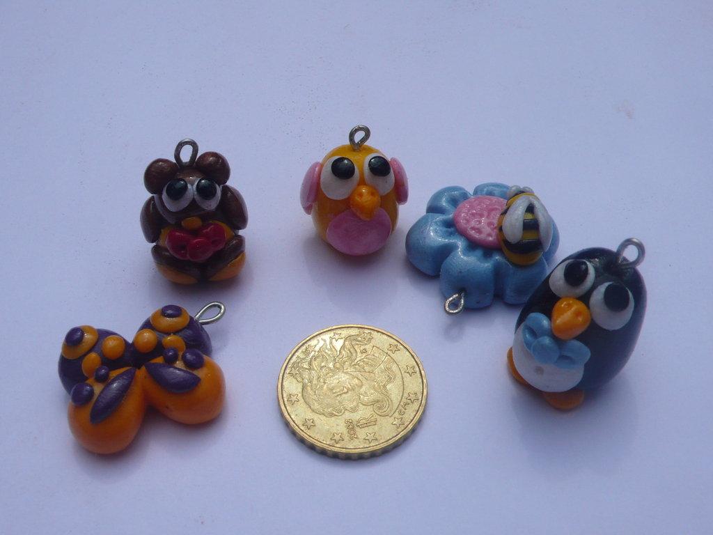 5 Mini Charms Misti