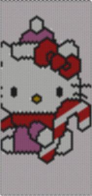 bracciale tecnica peyote hello kitty dolcetto