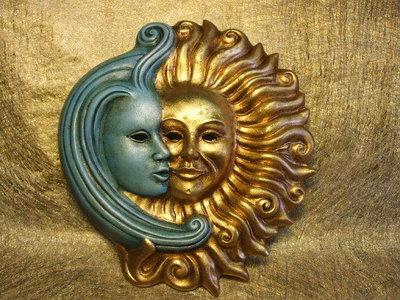 Sole luna in ceramica