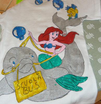 Maglietta in cotone Ariel