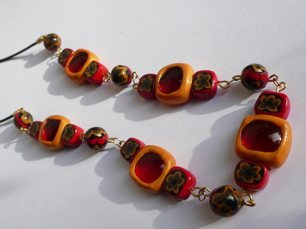 Collana Vetro Rosso