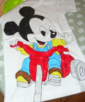 Maglietta in Cotone con Topolino