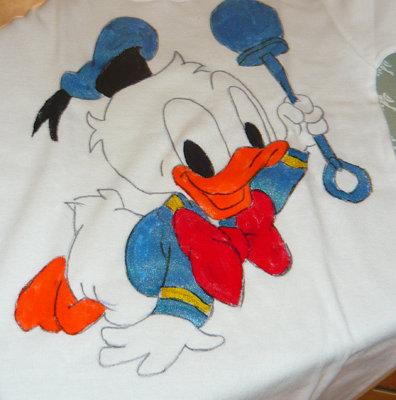 Maglietta in Cotone con Paperino