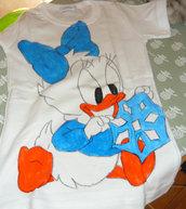 Maglietta in Cotone con Paperina