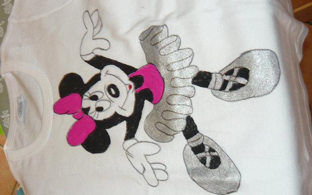 Maglietta in Cotone con Minnie