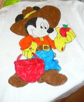 Maglietta in Cotone con topolino contadino