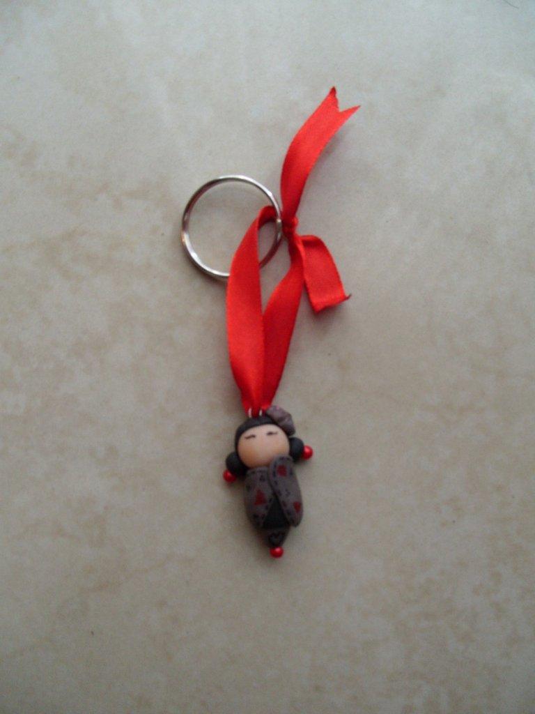 kokeshi dolls black-red