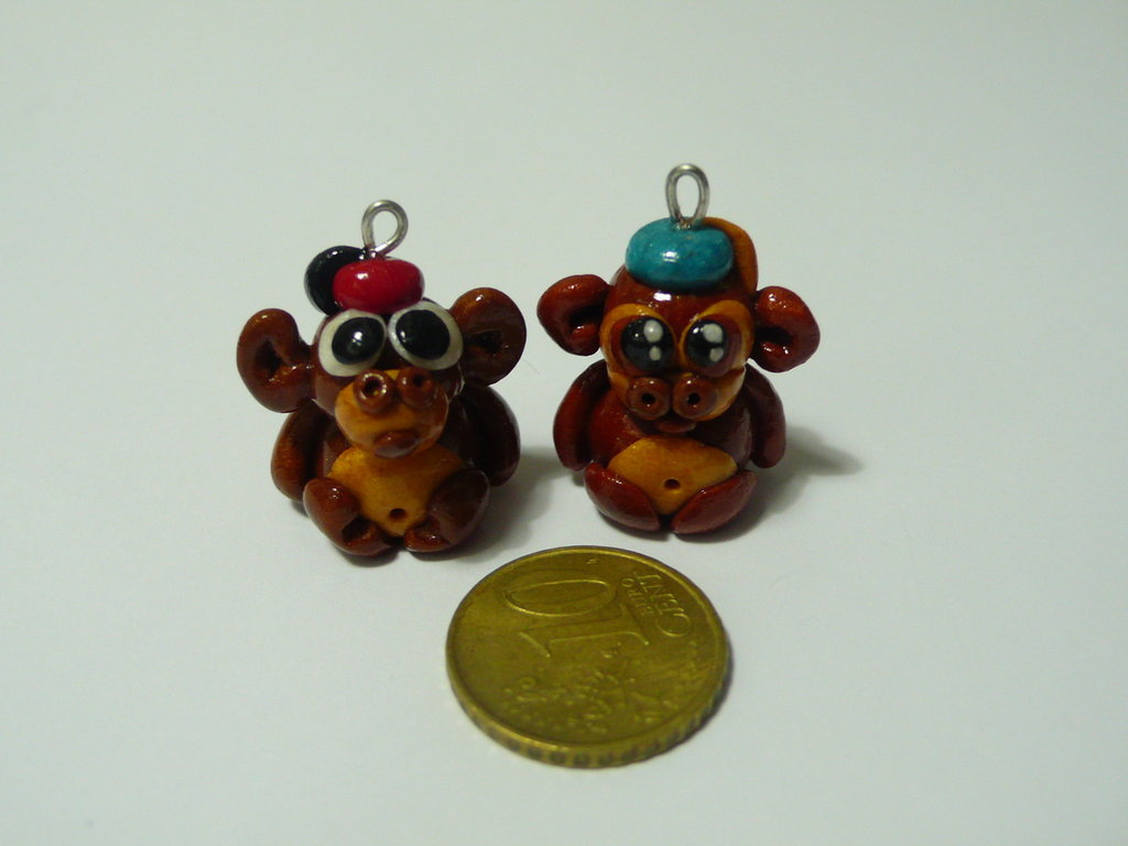 2 Mini Charms Scimmiette