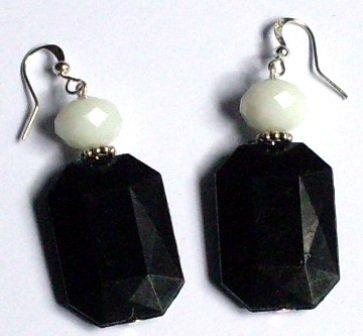 ORECCHINI pendenti Black&White