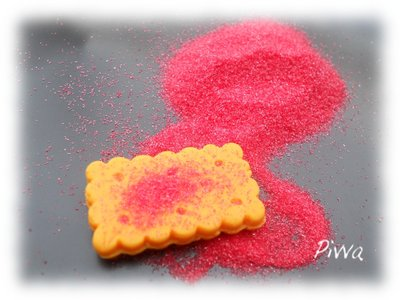 Zucchero finto per miniature - rosso