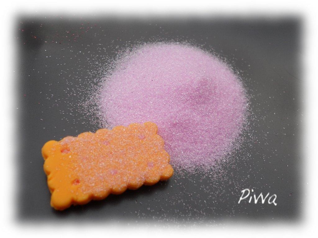 Zucchero finto per miniature - rosa