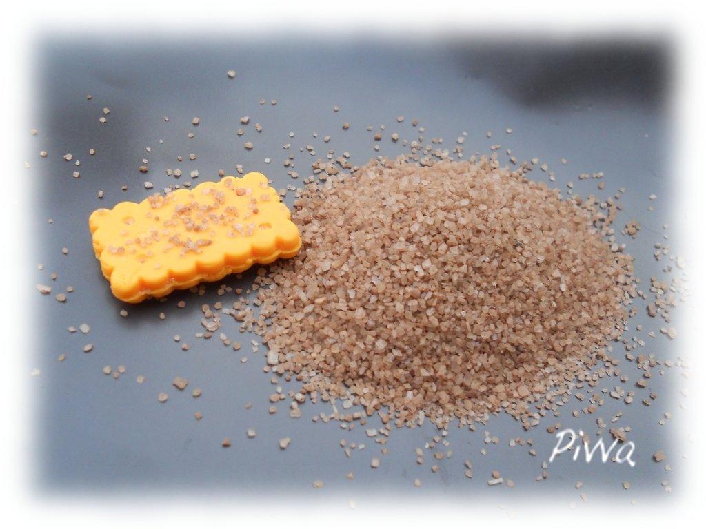 Granella per miniature in fimo - marrone