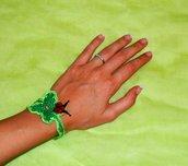 Braccialetto portafortuna uncinetto - bracciale quadrifoglio