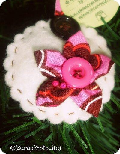 Portachiavi Fiore&Bottone