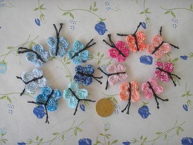 Farfalline mini ad uncinetto