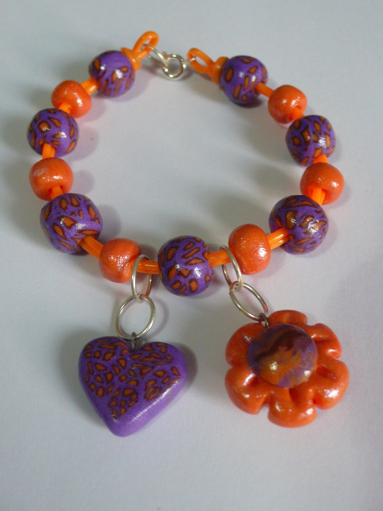 Bracciale Viola Arancio