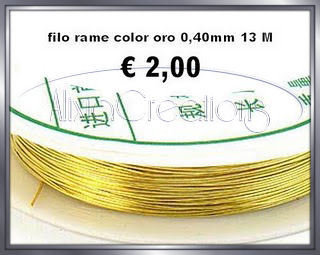 FILO RAME COLOR ORO 0,40MM 13 M