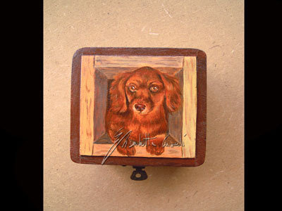 scatola portagioie bassotto