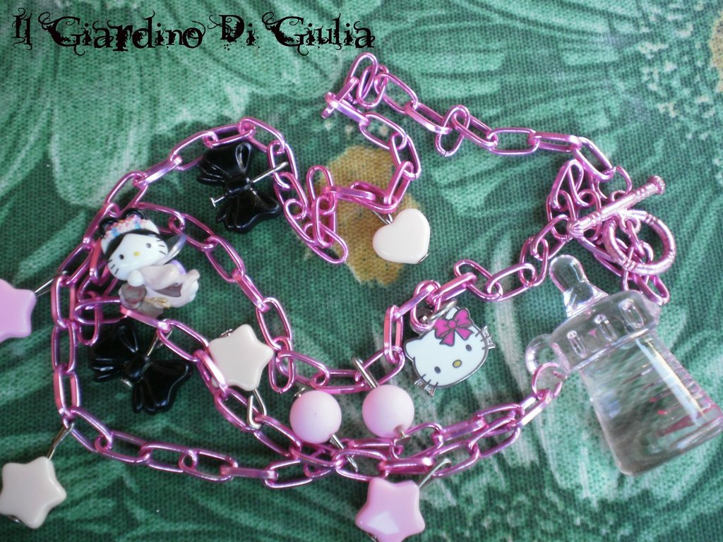 Collana Rosa*Hello Kitty