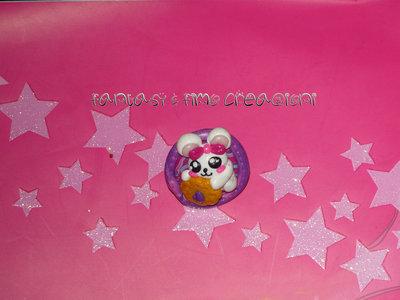 Anello Coniglietto con biscotto
