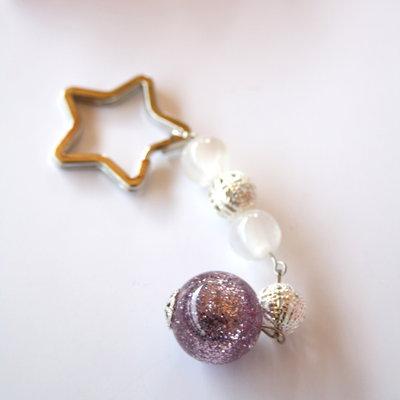 Portachiavi 'Pink Star'